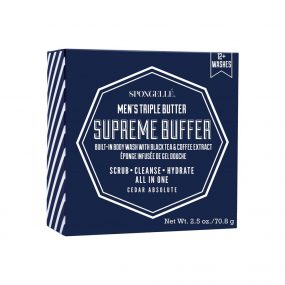 Spongelle Mens Supreme Buffer - Cedar